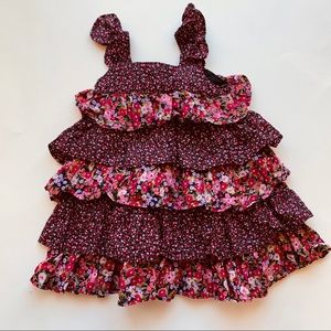 Gap Multi-layer Floral Ruffle Dress 18m